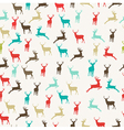 Merry Christmas reindeer seamless pattern vector image