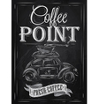 Poster retro coffee chalk chalk vector image
