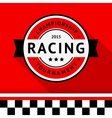 Racing badge 04 vector image