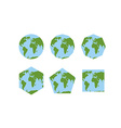 Set of geometric shapes of world atlases Map of vector image