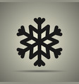 snowflake icon black and white vector image