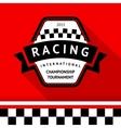 Racing badge 05 vector image