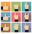 Flat Hands vector image vector image