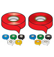 Adhesive tape vector image vector image
