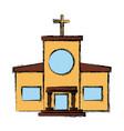 christian church building vector image