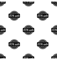 Discount icon in black style isolated on white vector image