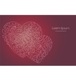hearts lineart doodle vector image
