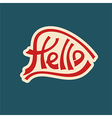 hello text lettering red characters vector image