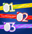 Modern design templates with numbers and striped vector image