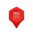 pointer for sale or discount price off tag icon vector image