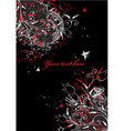 vector background in flower style vector image