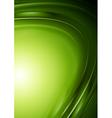 Green wavy design vector image vector image