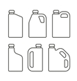 Blank White Plastic Canisters Icons Set for Motor vector image