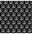 Seamless pattern with peace signs Background for vector image