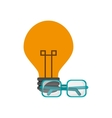 lightbulb and glasses icon vector image