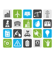 Silhouette Power energy and electricity Source vector image vector image