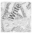 business school essays Word Cloud Concept vector image