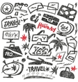 travel doodles vector image vector image
