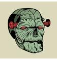It is a zombie head vector image vector image