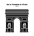 Arc de Triomphe Arch of Triumph of the Star in vector image