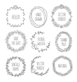 Floral wreaths collection vintage vector image