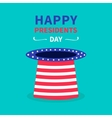 Big hat with stars and strip Presidents Day vector image