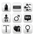 Contraception methods sex buttons sex vector image