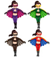 Flying girls vector image