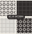 set of seamless knitted patterns graphics vector image