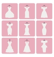 Silhouette of little wedding dressesFlat icons vector image