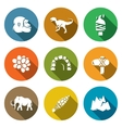 Stone Age and Dawn of the Dinosaurs Icons Set vector image