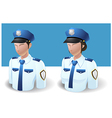 People Icons Policeman Man and Women vector image vector image