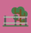 flat icon fenced tree vector image