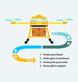 Drones delivery vector image