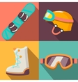 winter sport flat icons collection vector image