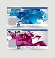 Social Media Web Banner Website Header for page vector image