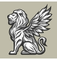 Lion statue with wings vector image