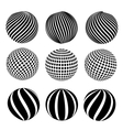 Abstract dotted sphere vector image