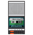 Audio tape recorder vector image