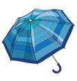 Big blue sun parasol umbrella against rain vector image