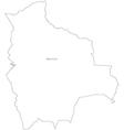 Black White Bolivia Outline Map vector image