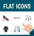 Flat icon clothes set of foot textile heeled shoe vector image