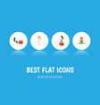 flat icon pregnancy set of meditation sport vector image