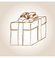 gift drawing vector image