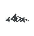 ice mountain hiking travel logo vector image