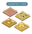 Isometric farm animals set vector image