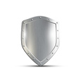 metal shield isolated on white background vector image