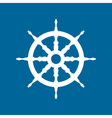 Ship Wheel Isolated on Blue Background vector image