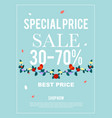 special price sale 30-70 banner for advertisement vector image