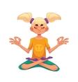 Blond haired girl doing yoga vector image